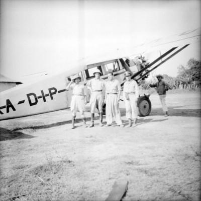 En Tenosique, con el piloto Calderon