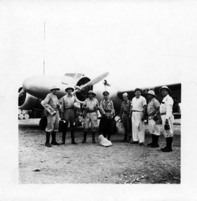 Parte de la expedición a Bonampak, en Tuxtla Gutierrez