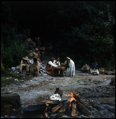 Escena de comida en en el cerro