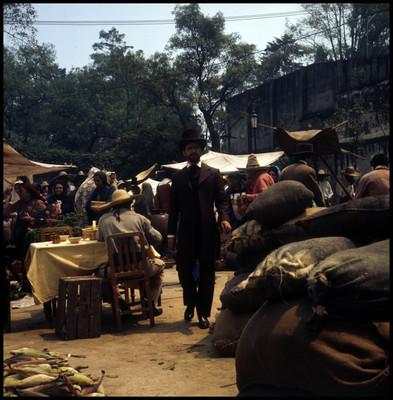 Farnesio de Bernal camina por mercado