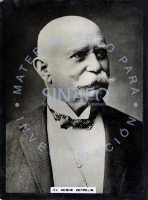 """""""El Conde [Ferdinand] Zeppelin"""", retrato de tres cuartos"""