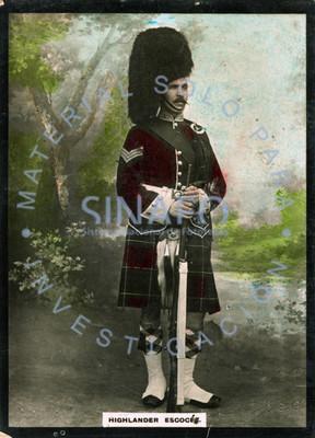 """""""Highlander escocés"""" o montañés escocés, retrato"""