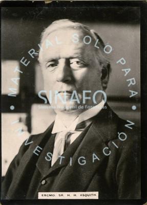 """""""Excmo. Sr. H. H. Asquith"""", retrato"""