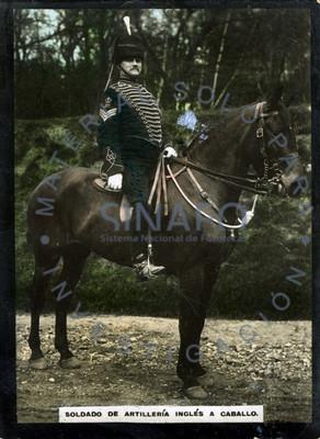 """""""Soldado de artillería inglés a caballo"""", retrato"""
