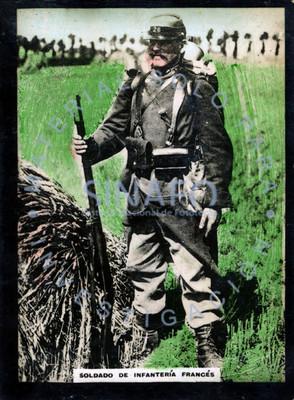 """""""Soldado de infantería francés"""", retrato de pie"""
