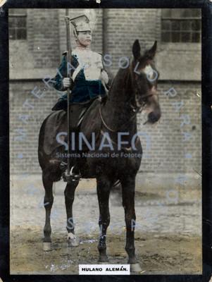 """""""Hulano alemán"""" monta a caballo, retrato"""