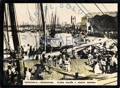 """Marineros en el puerto """"Plaza Colón y Nueva Marina"""""""