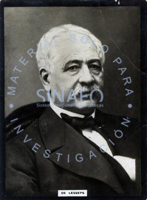 """Ferdinand """"de Lesseps"""", diplomático y empresario francés, retrato"""