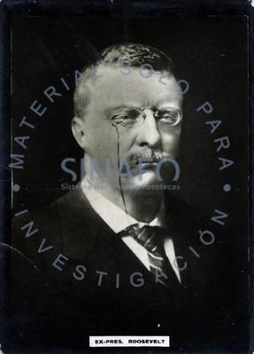 """Theodore """"Roosevelt"""", presidente de Estados Unidos de Norteamerica, retrato"""