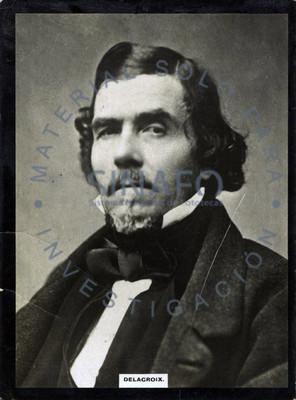 """Eugene """"Delacroix"""", retrato de tres cuartos"""