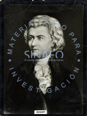 """Wolfgang Amadeus """"Mozart"""", retrato de tres cuartos"""