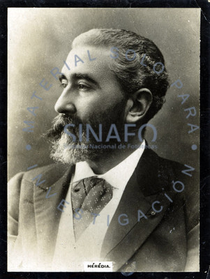 "José María de ""Heredia"" Girard, retrato de tres cuartos"