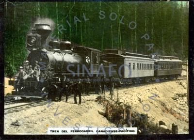 Tren del ferrocarril Canadiense-Pacífico