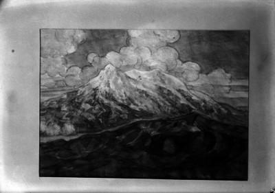 Cerros del Perú, pintura de caballete elaborada por Sotomayor