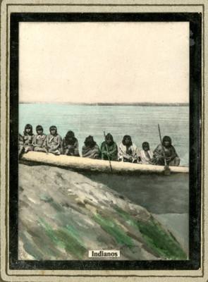 """""""Indianos"""" en una canoa"""