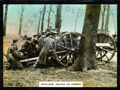 Artillería Inglesa en Francia