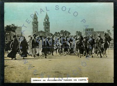 Convoy de prisioneros turcos en Egipto