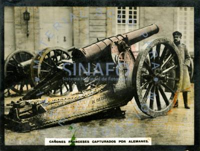 Cañones franceses capturados por alemanes