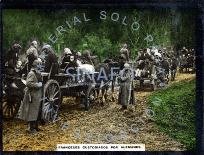Franceses custodiados por alemanes