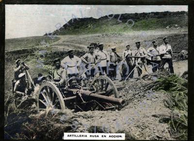 Artillería rusa en acción