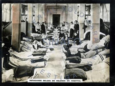 Refugiados belgas en Holanda en el hospital