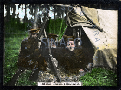 Soldados ingleses descansando