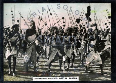 Guerreros egipcios contra turcos