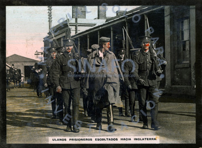 Ulanos prisioneros escoltados hacia Inglaterra