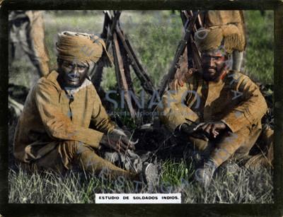"""""""Estudio de soldados indios (sic)"""" Hindú"""
