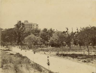 Trabajos en los terrenos a la entrada del Bosque de Chapultepec
