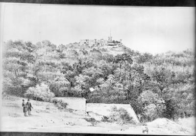 Vista de Chapultepec, aspecto de los terrenos contiguos por el lado Sur, reprografía
