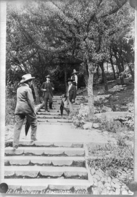 """Escalinata para subir al Colegio Militar, """"The stairway of Chapultepec Mexico"""""""