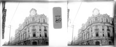Banco de Londres y México, fachada, estereoscópica
