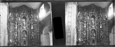 Altar del convento de San Joaquín, estereoscópica