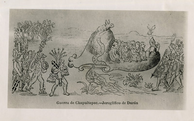 Códice Durán, destierro de los mexicas de Chapultepec, reprografía
