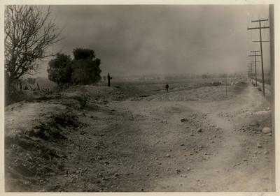 Trabajos de terracería en la prolongación de la calzada del Chivatito