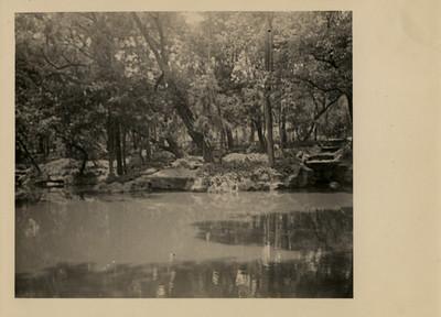 El lago del vivero con sus caídas de agua