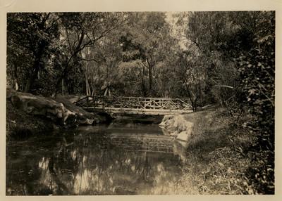 Puente sobre el canal de prolongación en la calzada de los poetas