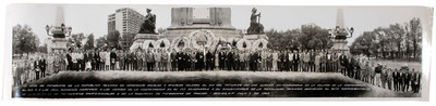Representantes de la Unión de Fotógrafos de la República Mexicana de Ceremonias sociales y oficiales, día del fotógrafo