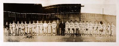 """Equipo de beisbol de Bancomer, """"Abril 1935"""""""