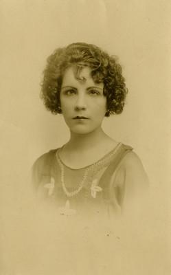 Mujer, retrato, tarjeta postal