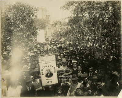 Manifestación de apoyo a Francisco I. Madero