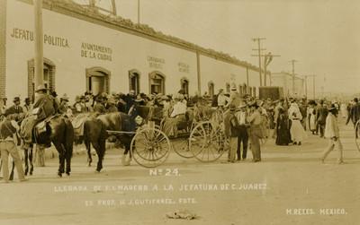 Llegada de F. I. Madero a la jefatura de C. Juárez