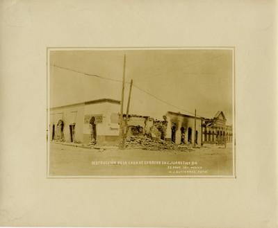 Destrucción de la casa de correos en C. Juárez