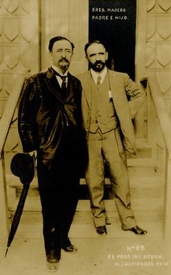 """""""Sres. Madero. Padre e hijo"""", tarjeta postal"""