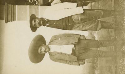 Manuel Palafox y otro jefe zapatista, retrato