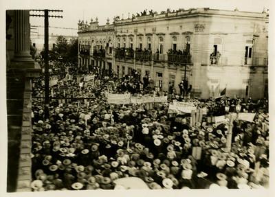 Manifestación de apoyo al candidato Juan Andrew Almazán