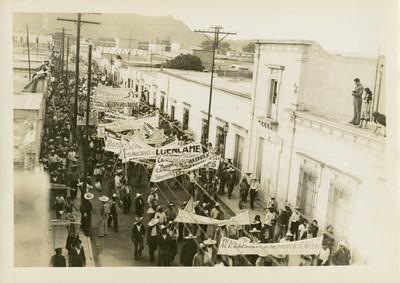Manifestación de apoyo a Juan Andrew Almazán
