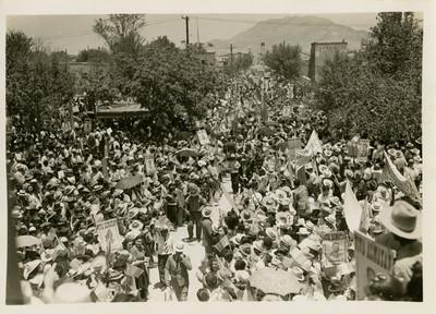 Manifestación en favor de Juan Andrew Almazán