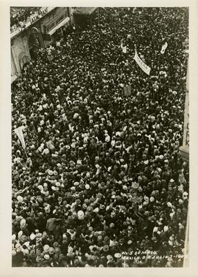 Partidarios de Juan Andrew Almazán el día de las elecciones